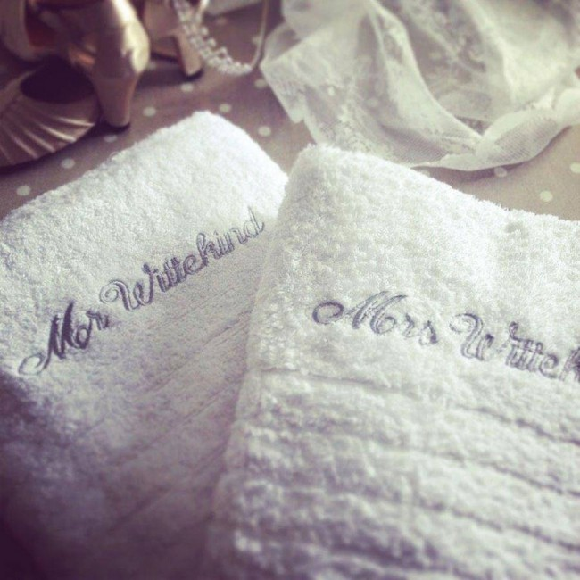 Personalised Wedding Towels
