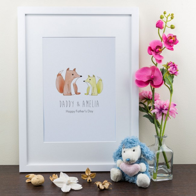 Foxes - Personalised Art Print