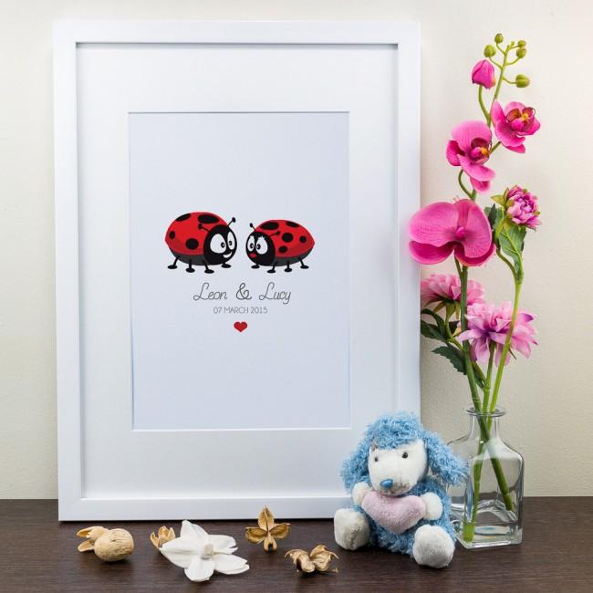Ladybird Design - Personalised Art Print