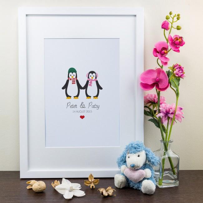 Penguin Design - Personalised Art Print