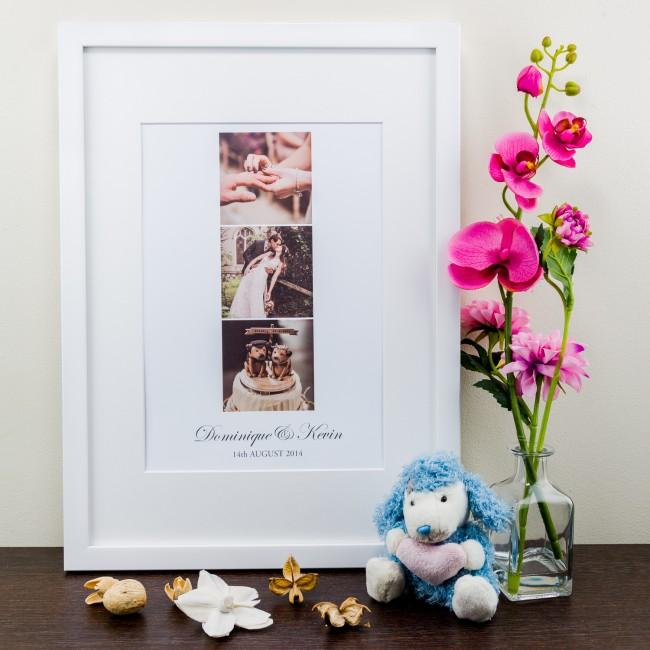 Photo Trio Anniversary - Personalised Art Print