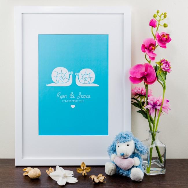 Snail Design - Personalised Art Print