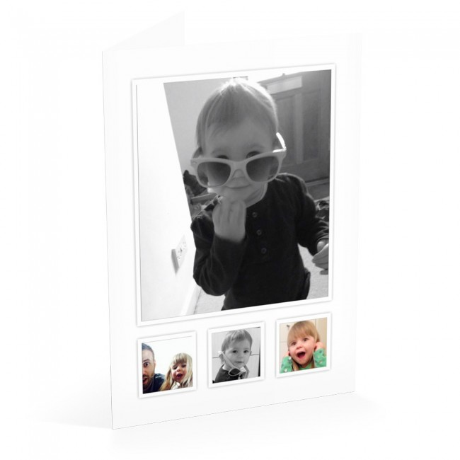 4 Photo's - Thank You Card