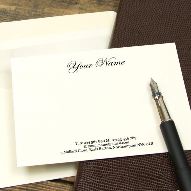 Premium Classic Script Correspondence Cards