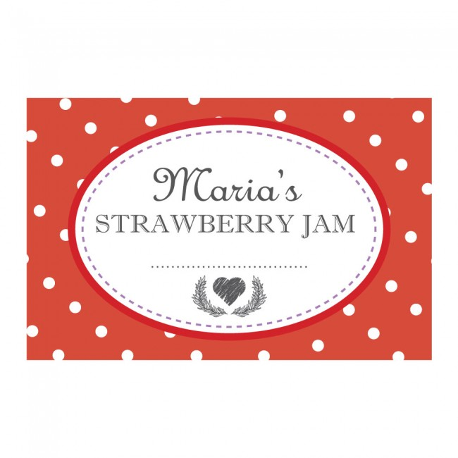 Spotty Red - Jam Jar Labels