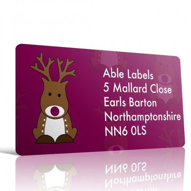 christmas address label