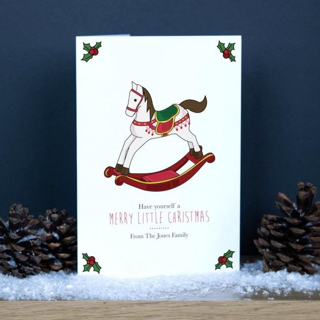 Premium Christmas Cards - Rocking Horse