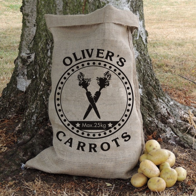 Personalised Motif Hessian Sack