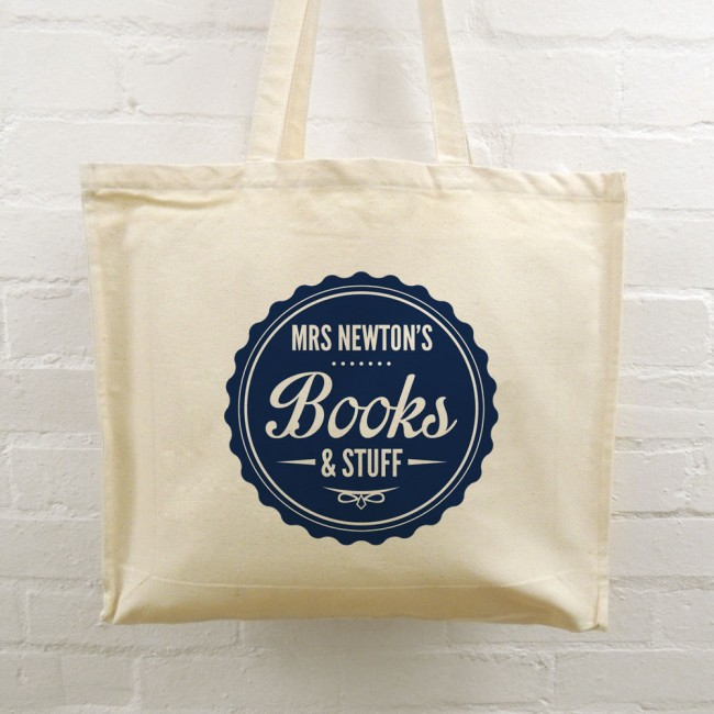 Teacher Tote Bag - Books & Stuff