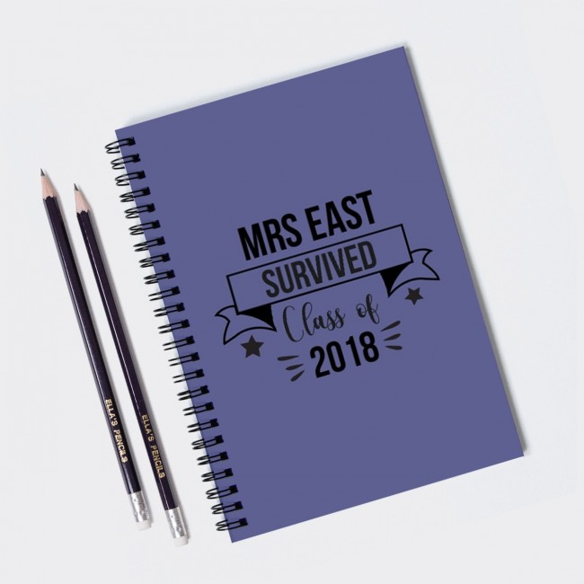 Survived Teacher Personalised Notebook