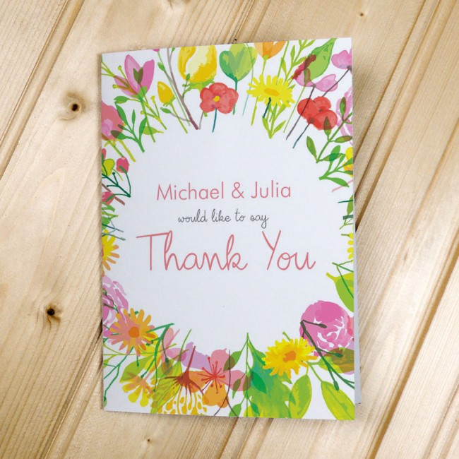 Flowers - Thank You Cards