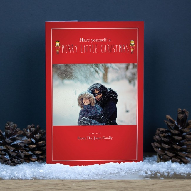 Premium Christmas Cards - Toy Soldier Photo Upload
