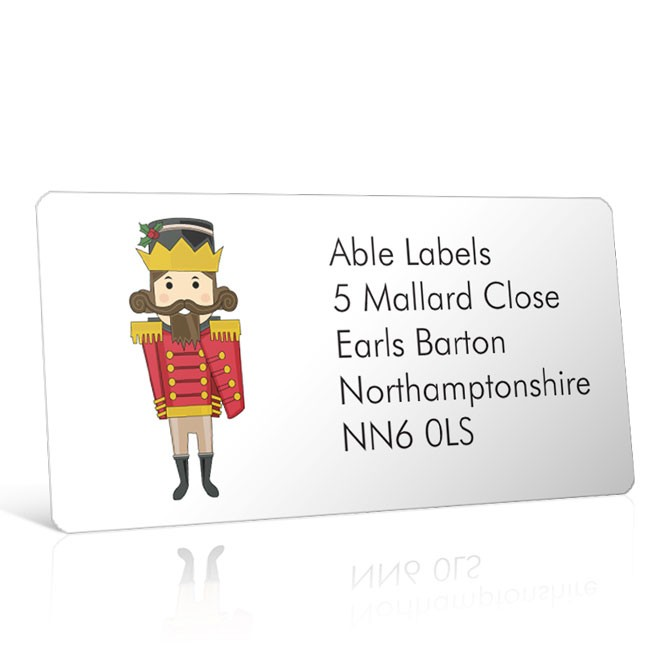 Christmas A4 Sheet Labels - Toy Soldier