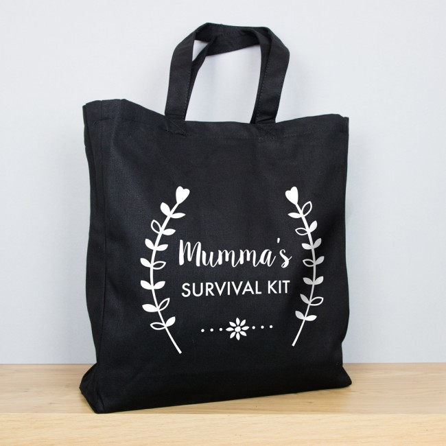 Flowers - Personalised Mother's Day Tote Bag
