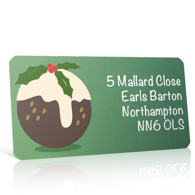 Christmas A4 Sheet Labels - Christmas Pudding