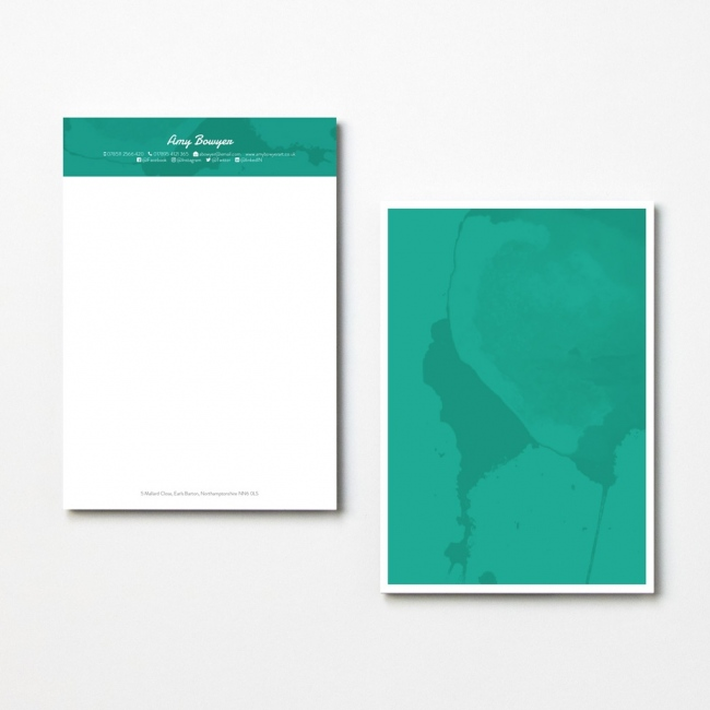 Contemporary Marble Letterheads
