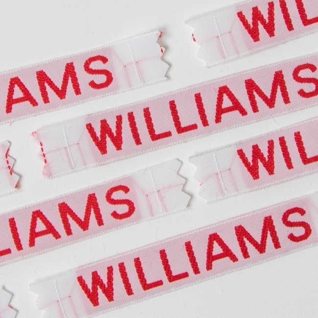Sew In Name Labels - 12mm Capital Letters