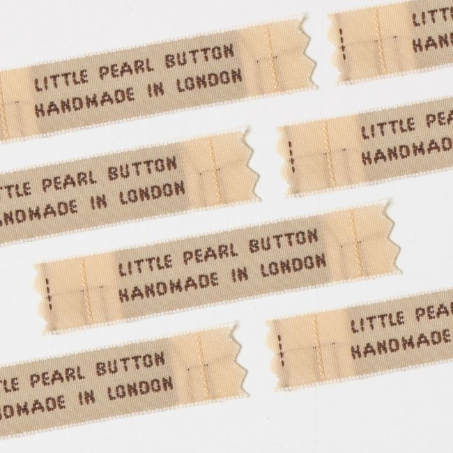 Bespoke Woven Labels - 12mm Two Lines