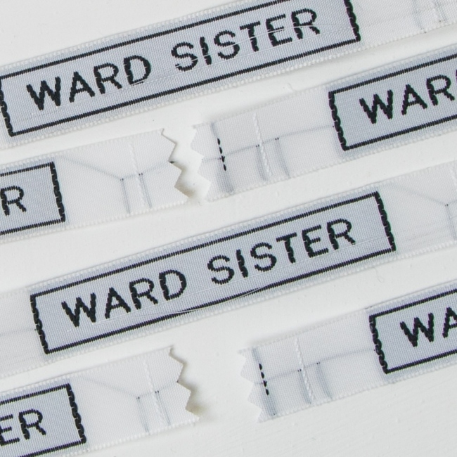Sew In Name Labels - 12mm With Border