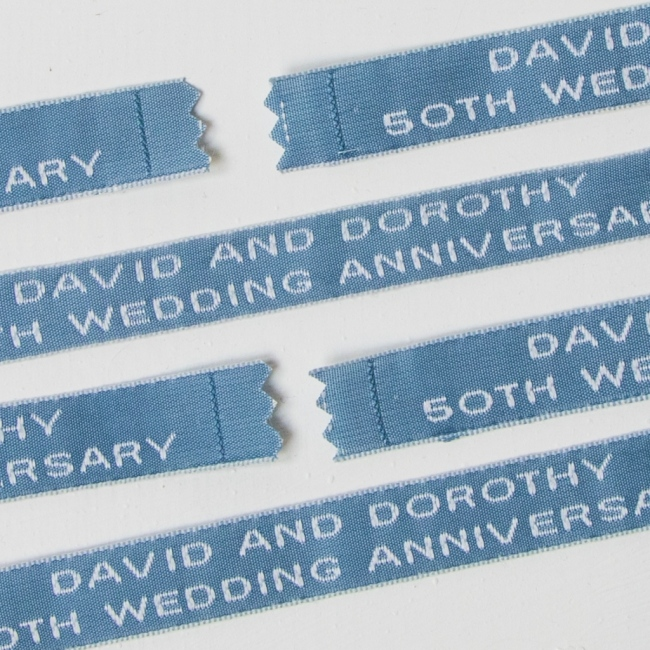 Sew In Name Labels - 12mm Two Lines