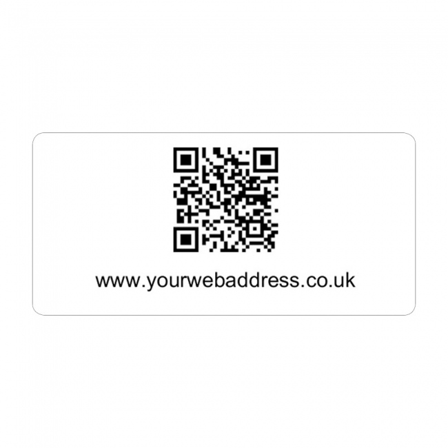 32x63mm QR Code Label