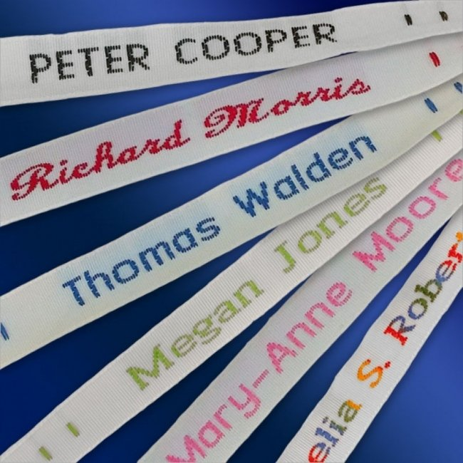 Sew In Name Labels - 8mm