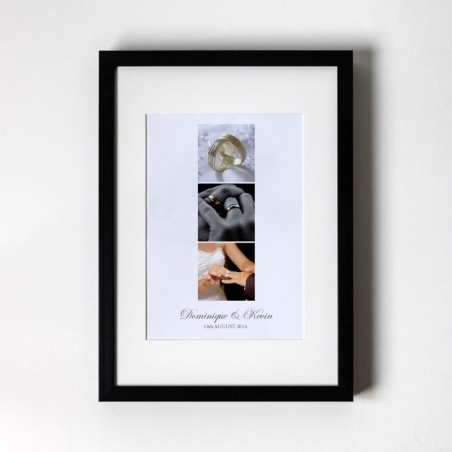 Photo Trio Anniversary - Personalised Art Print