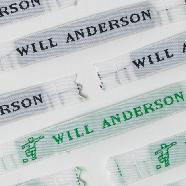 Sew In Name Labels – 8mm Typed Lettering