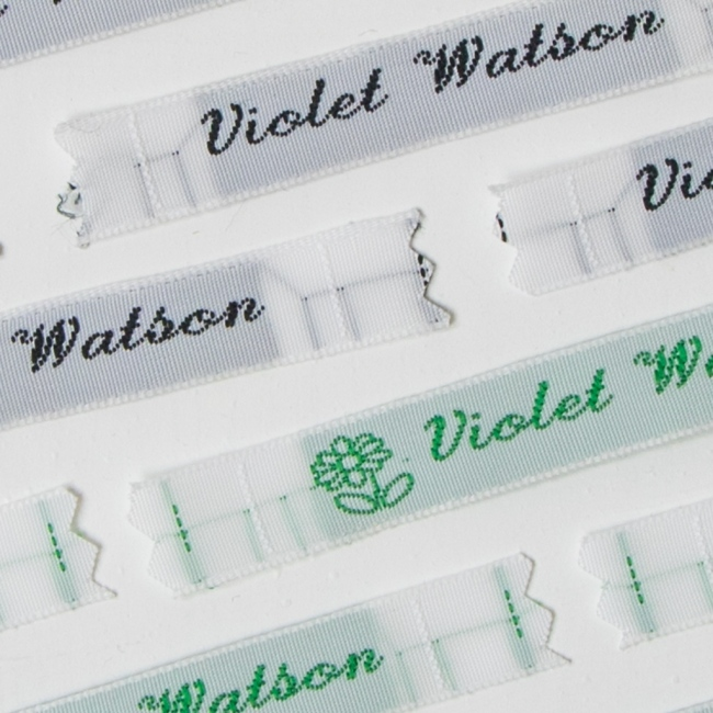 Sew In Name Labels – 8mm Handwritten