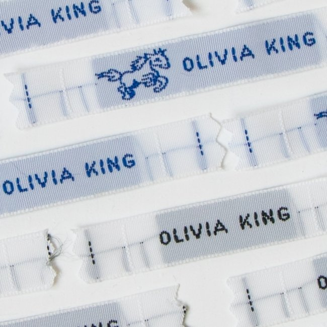 Sew In Name Labels - 8mm Small Capital Letters