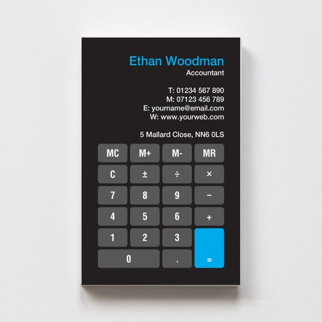 Template business cards able labels templated business card accountant 1 wajeb Image collections