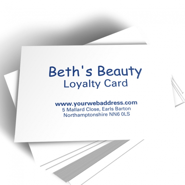 Printed Appointment Card With Personalised Centred Text