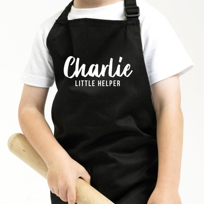 Personalised Father's Day Kids Apron - Text Only