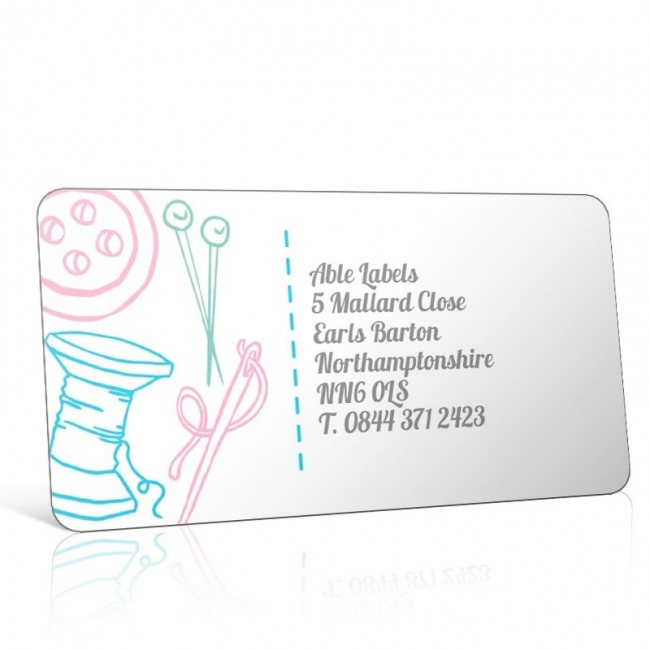 Pre Designed Sewing Needles Address Label on A4 Sheets