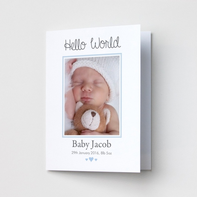 Baby Photo Announcement Cards – Portrait