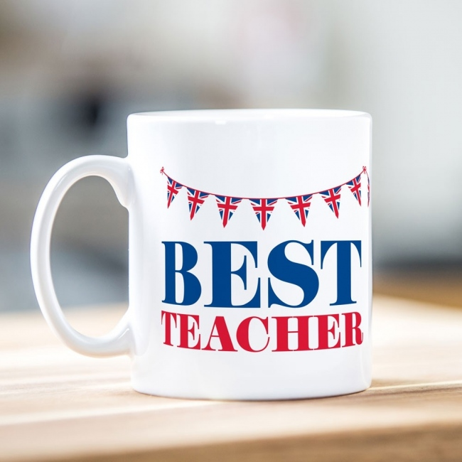 Best Teacher Bunting Mug