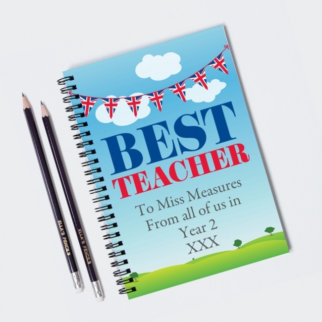 Best Teacher Notebook & 12 Graphite Pencils