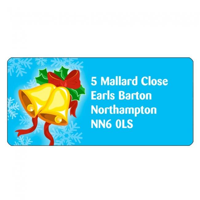 Christmas A4 Sheet Labels - Bells