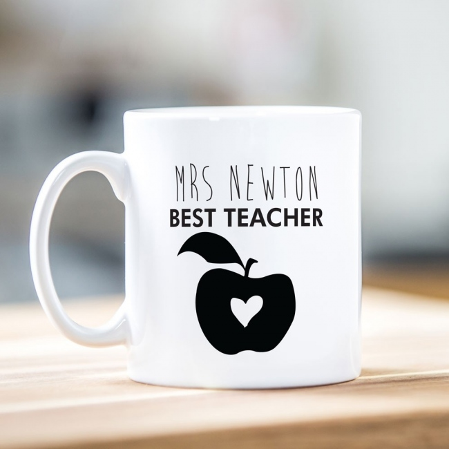Best Teacher Apple Mug