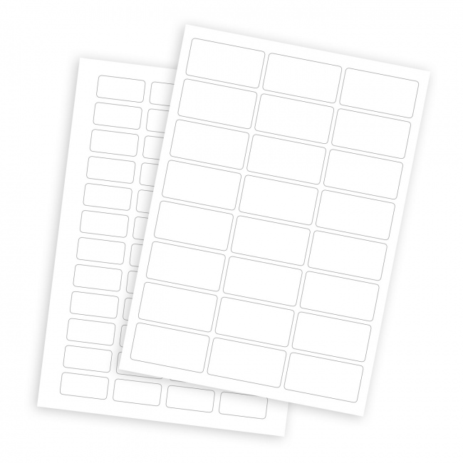 Blank A4 Sheet Labels