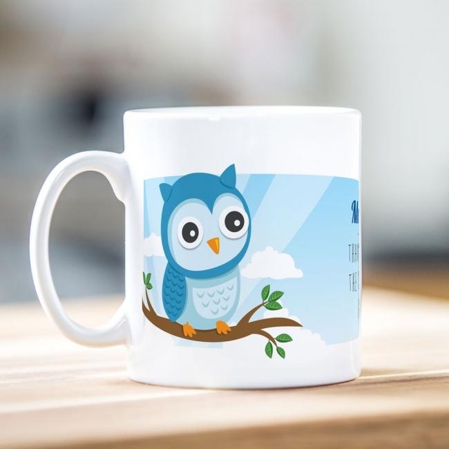 Blue Owl Teacher Mug
