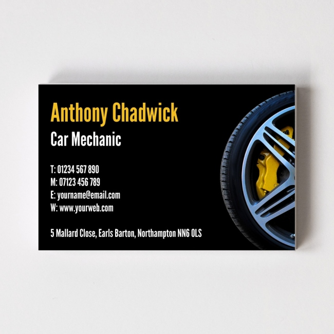 Templated Business Card Mechanic 2