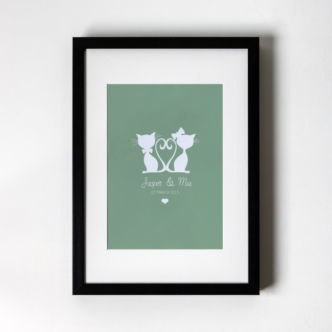 Cat Design - Personalised Art Print
