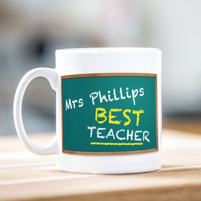 Chalkboard Teacher Mug - Front