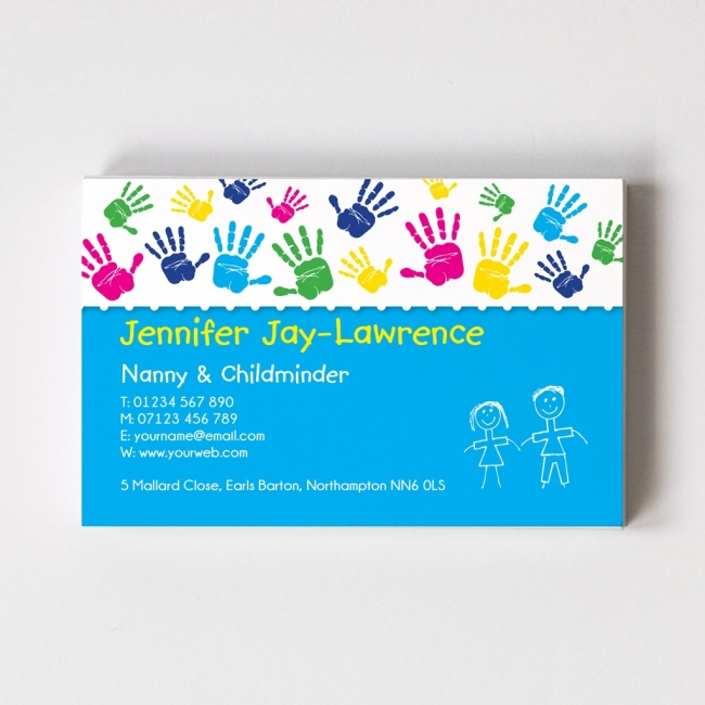 Childminder Templated Business Card 2