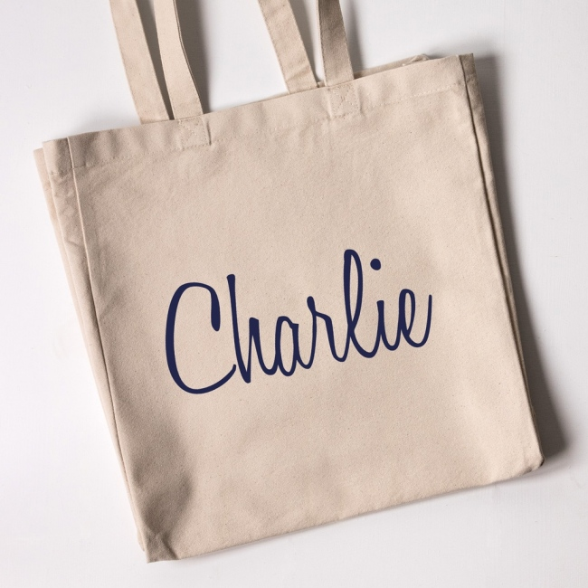 Personalised Tote Bag - Honey Script