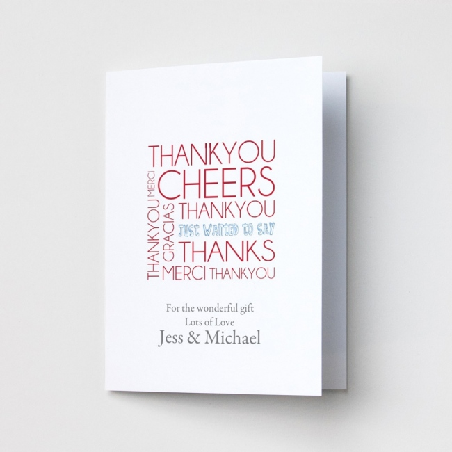 Thanks 2 - Thank You Card