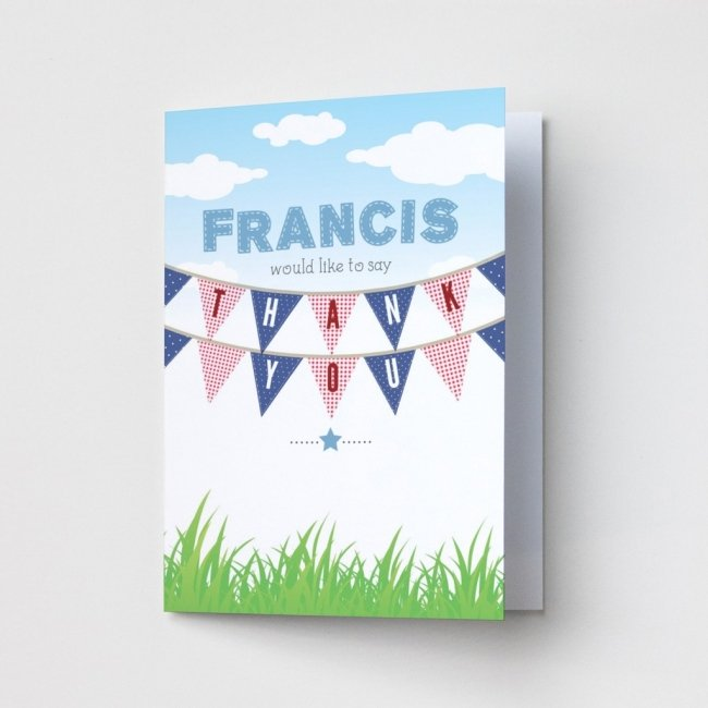 Children's Bunting - Thank You Cards