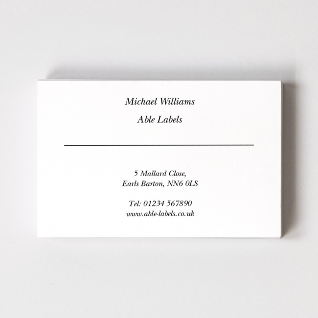 Business cards personalise your business cards online able labels classic style a business card reheart Gallery