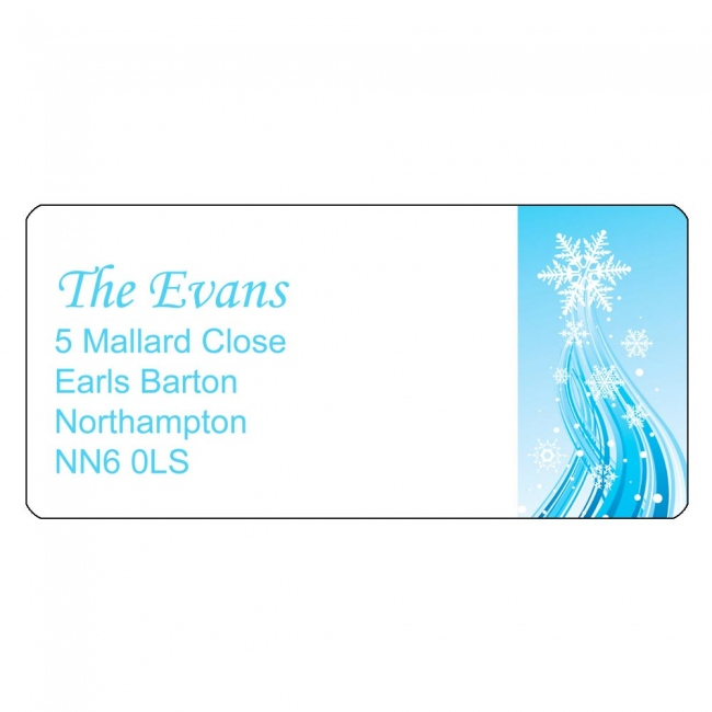 Christmas A4 Sheet Labels - Classic Motif Right